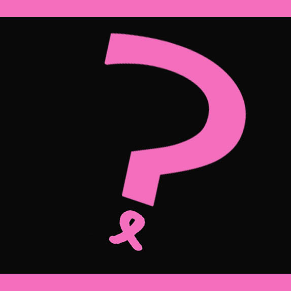 breast cancer ribbon question mark